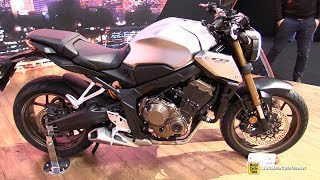 2019 Honda CB650R - Walkaround - Debut at 2018 EICMA Milan thumbnail