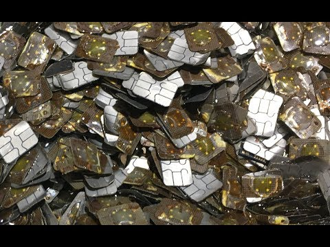 GOLD from cell phone SIM cards PART 2 - Smelting