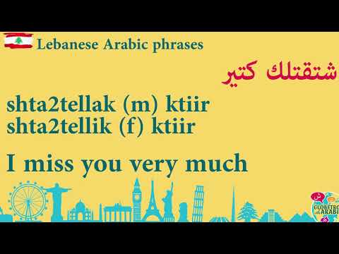 TODAY'S LEBANESE ARABIC PHRASE: How to say I MISS YOU IN