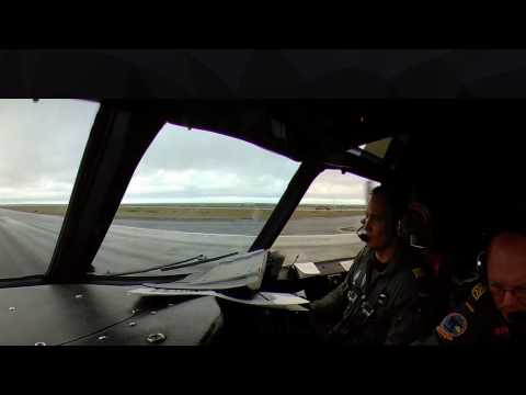 Taking off aboard German Navy P3C Orion