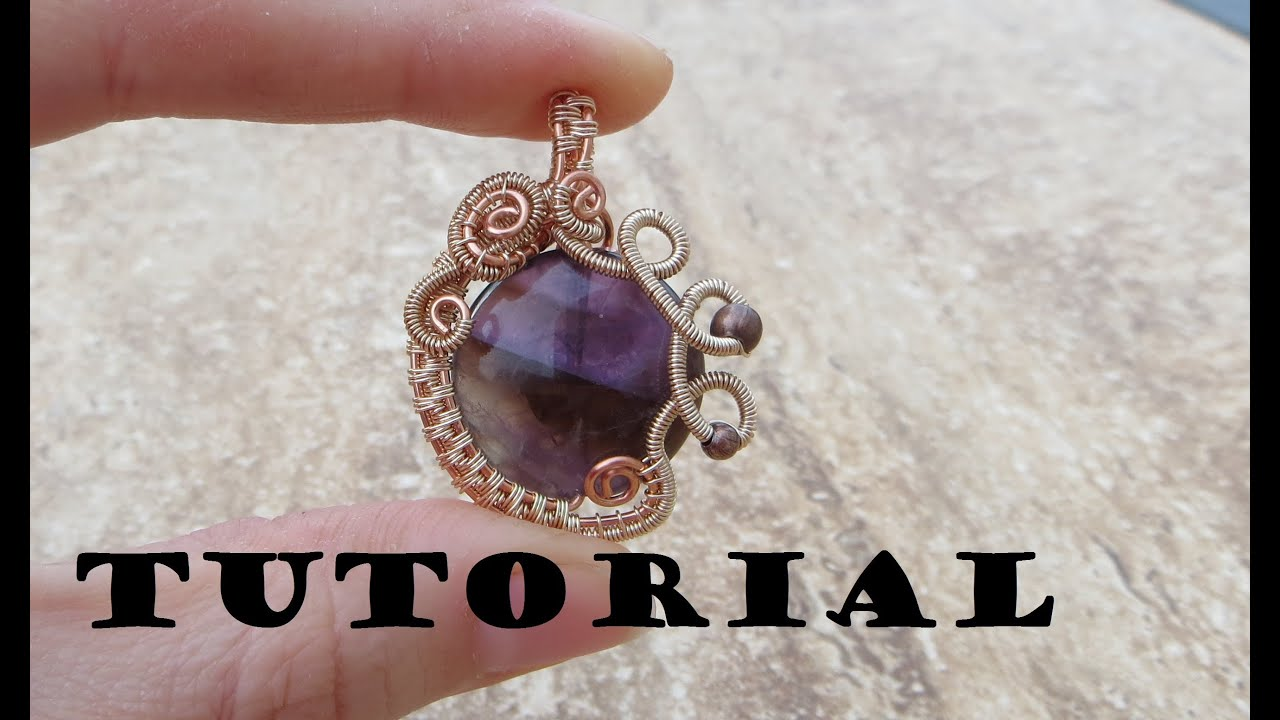 Tutorialdemo wire wrapped gemstone pendant youtube aloadofball Image collections