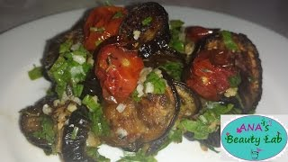 Oven-roasted Eggplant With Cherry Tomatoes And Garlic / Vinete La Cuptor Cu Rosii Si Usturoi-ro Subs
