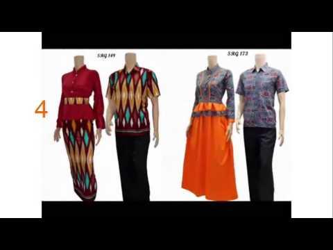 Koleksi Gamis Batik Terbaru Model Baju Batik Wanita Sutra Youtube