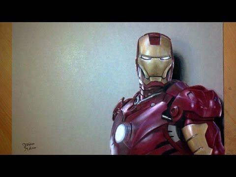 Dessin r aliste iron man marvel art youtube - Dessin iron man ...