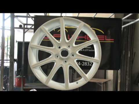 Powder coating wheels and rims at L.A. Wheel and Tire