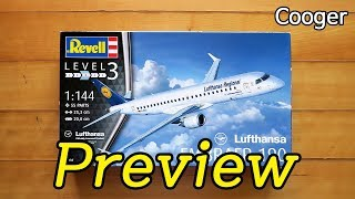 RevellAG 1/144 Embraer 190 Lufthansa Preview (독일 레벨 루프트한자 엠브라에르 E190 ERJ190 ドイツレベル エンブラエル 프리뷰 03937)