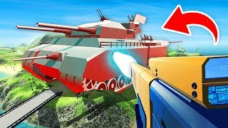 WORLD'S BIGGEST TANK vs POWERFUL RAIL GUN IN RAVENFIELD (Ravenfield Funny Gameplay)