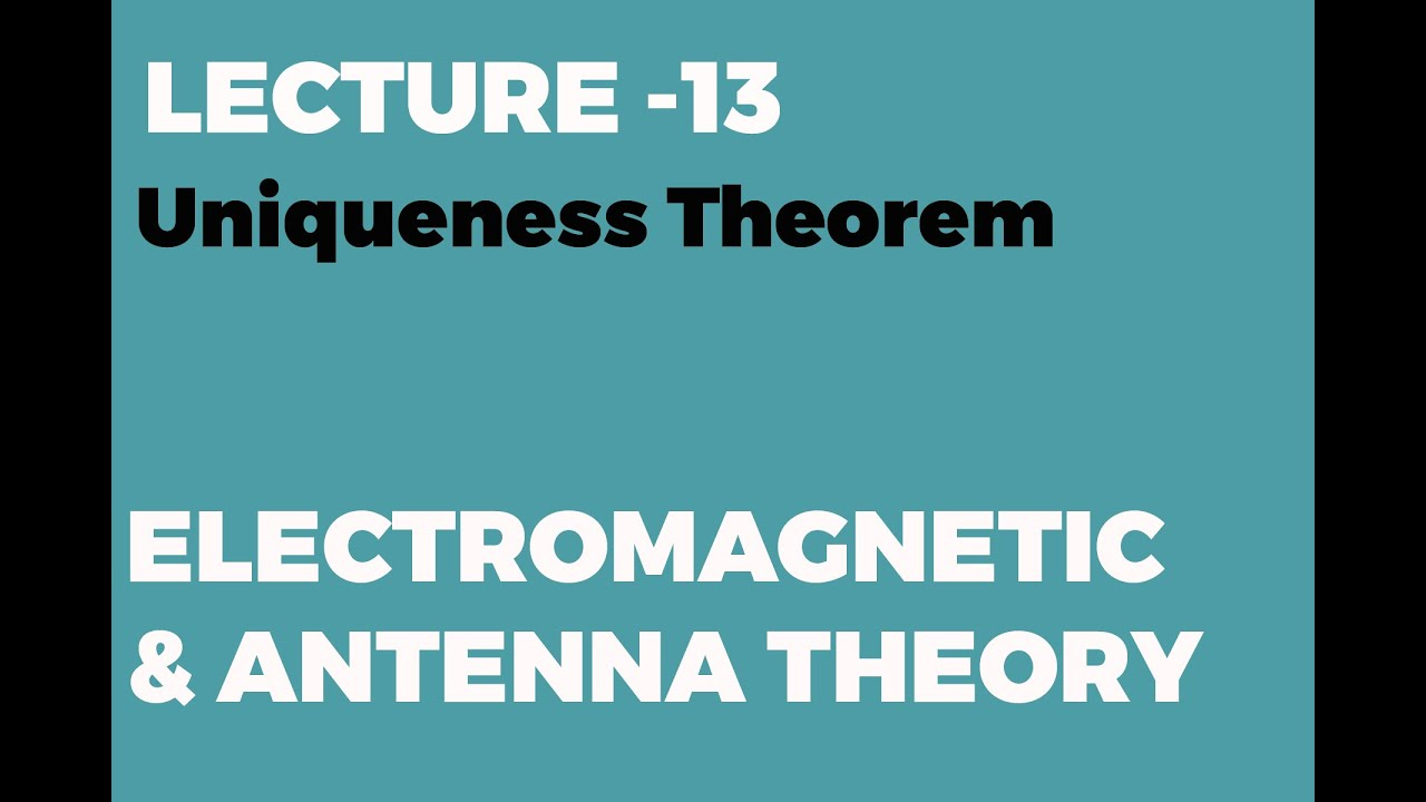 Download Uniqueness Theorem in Electromagnetis