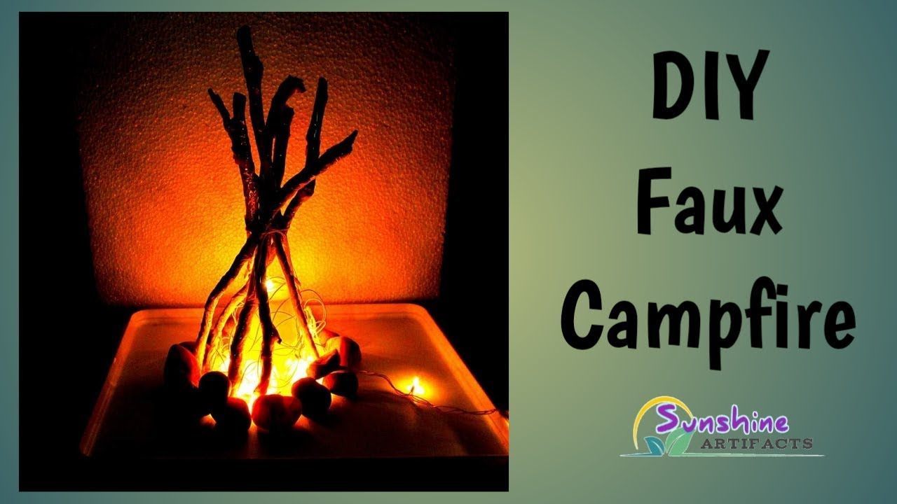 DIY Indoor Fire 🔥 Pit | Faux Campfire | #124 - YouTube