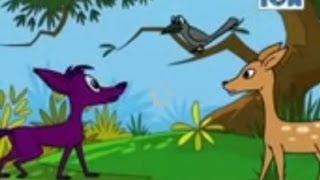 Crow Deer And Fox