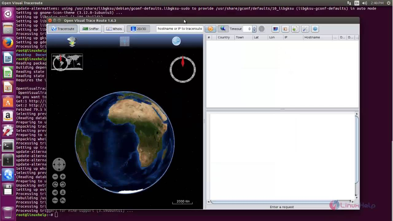 How to install Visual traceroute - A Graphical tool