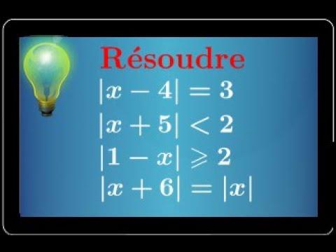 résoudre des équations et inéquations avec valeur absolue • mathématiques seconde exercice ...