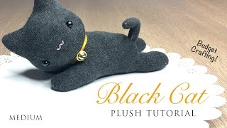 DIY Black Cat Plush and Halloween Hairband Tutorial