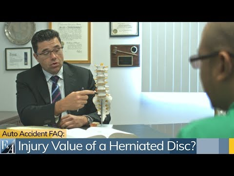 Lawsuit Value Of Herniated Disc.  A New York City Car Accident Lawyer Explains the Law.