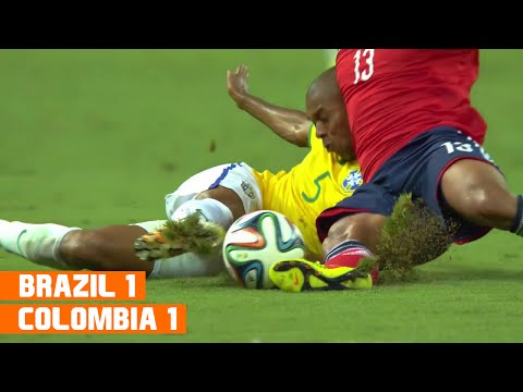 Brazil vs Colombia (2-1) World Cup 2014 Highlights