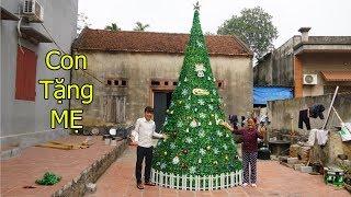 Hưng Vlog - Làm Cây Thông Noel Khổng Lồ Tặng MẸ Bà Tân Vlog | Giant christmas tree
