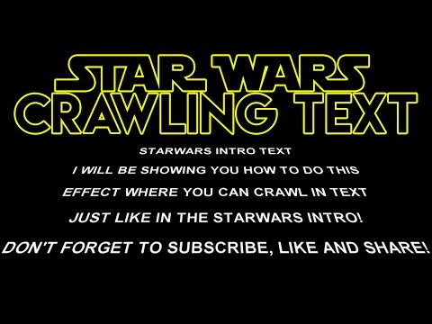 How To: Create Star Wars Crawling Text in Sony Vegas