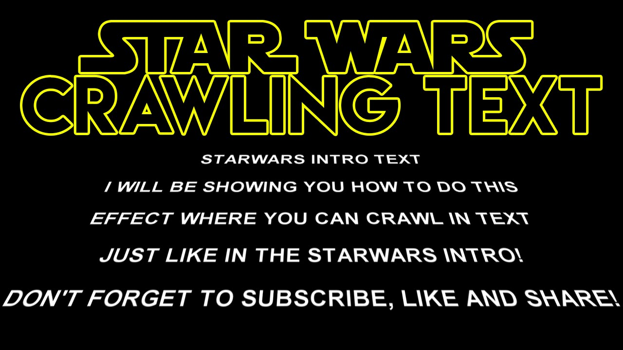 how to create star wars crawling text in sony vegas