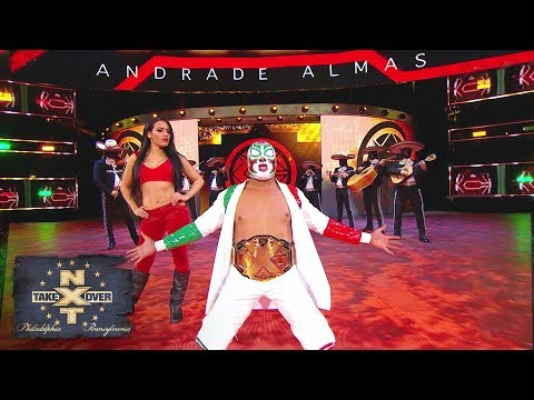 "Masked mariachi band plays Andrade ""Cien"" Almas to the ring: NXT TakeOver: Philadelphia"