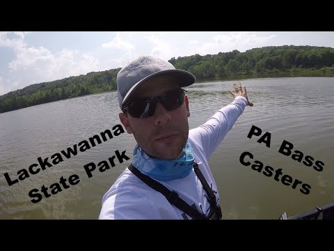 Lackawanna State Park (LSP) PA Fishing Tournament Practice.