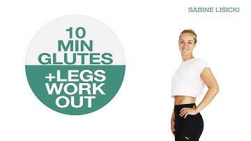 DIY 10 Min Glutes & Legs HOME WORKOUT // No Equipment // By Tennis Pro Sabine Lisicki