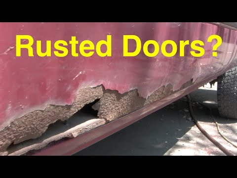 How to fix rusted doors