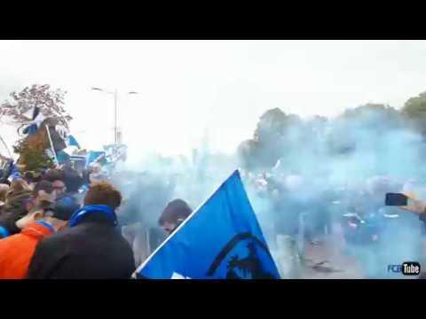 2017-2018 - Club Brugge-Antwerp - Busopwachting Voor de Match