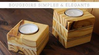 Comment fabriquer des bougeoirs en bois ? Idée Cadeaux pour NOËL (Version Complète)