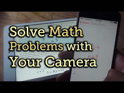Solve Any Mathematics Questions With Your Phone's Camera - Photo Math Tutorial