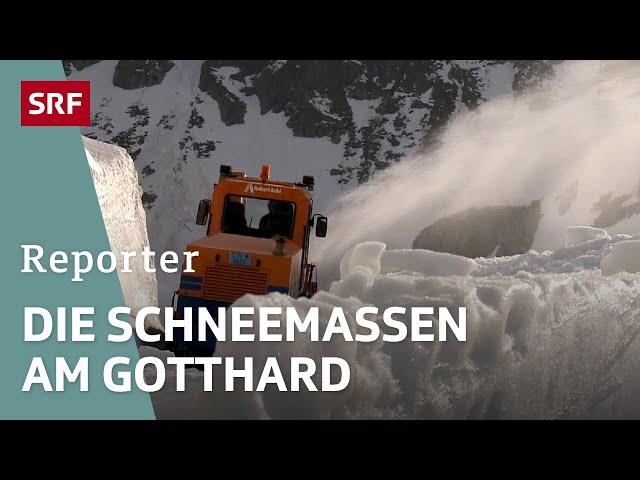Schneeräumung am Gotthardpass   Unterwegs mit Strassenmeister Werner Gnos   Reportage   SRF Dok