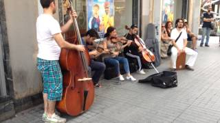 Requiem for a Dream (Lux Aeterna) String Quintet Street Performance