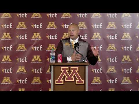 Gopher Blog - VIDEO: P.J. Fleck Postgame Press Conference after win over South Dakota St.