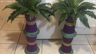 Diy dollar tree Floor Planter Tutorial