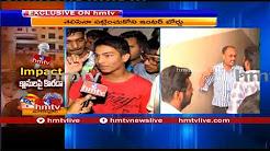 అధికారుల తీరుపై విద్యార్థి సంఘాలు ఆగ్రహం...! LIVE Form Madhapur Narayana College | hmtv