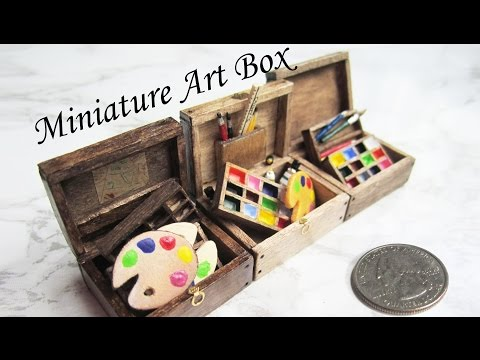 Wooden Box from Popsicle Sticks! DIY Miniature