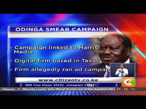American advertising firm accused of smear campaign against Odinga