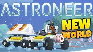 Astroneer - Broken Worlds & Crazy Storms! - Rover Train - Astroneer Gameplay Highlights Part 4