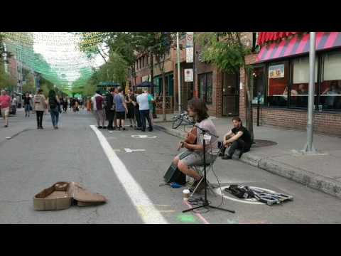 Creep - Radiohead. Street Musician, Montreal, July 8th 2017