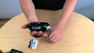 sony HDR-CX130E unboxing