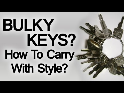 What To Do With A Bulky Set Of Keys | Key Wallets & Key Chains | How To Simplify Keys You Carry