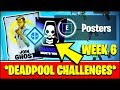 Deface GHOST or SHADOW RECRUITMENT POSTERS LOCATIONS (Fortnite Deadpool Week 6 Challenges)