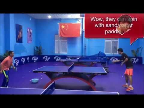 [TT China] Yan Weihao, World Pingpong Champ, Zhang JK uses Sandpaper paddle (English noted)