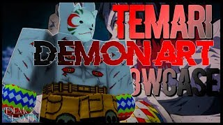 Temari/Ball Demon Art Showcase | New Demon Art | Roblox Demon Slayer RPG