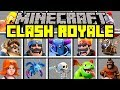 Minecraft CLASH ROYALE MOD! | SUMMON MINI PEKKA, BARBARIANS, WIZARDS! BEST DECK! | Modded Mini-Game