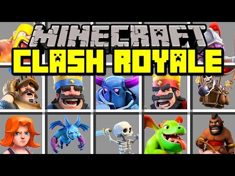 Minecraft CLASH ROYALE MOD! | SUMMON MINI PEKKA, BARBARIANS, WIZARDS! BEST DECK! | Modded Mini-Game
