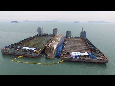 South Korea prepares to move sunken Sewol ferry to port