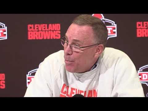 Browns GM John Dorsey & Freddie Kitchens talk LSU's Greedy Williams
