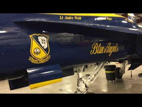 2018 US Navy Blue Angels F/A-18 Hornet Walk-Around