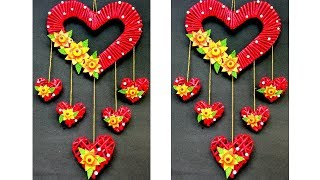 Newspaper Wall Hanging | Heart Wall Hanging | Diwali Home Decor