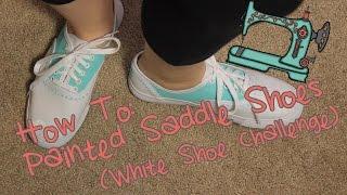 DIY Painted Saddle Shoes | HGTV Handmade White Shoes Challenge
